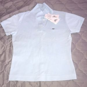 NEW Lacoste Light Blue Top